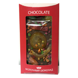 Шоколад молочный 40% с фруктами 130 гр.