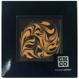 Шоколад СНСО Дизайнерский, темный 72% с апельсиновым шоколадом