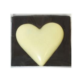 Молочный шоколад  СЕРДЦЕ белое