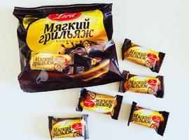 Конфеты в шоколадной глазури. 240 грамм Мягкий грильяж с арахисом