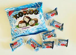 Конфеты в шоколадной глазури. 240 грамм Кокос